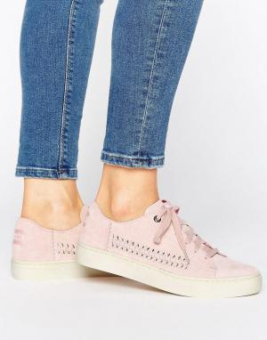Toms Бледно-розовые замшевые кроссовки Lenox. Цвет: розовый