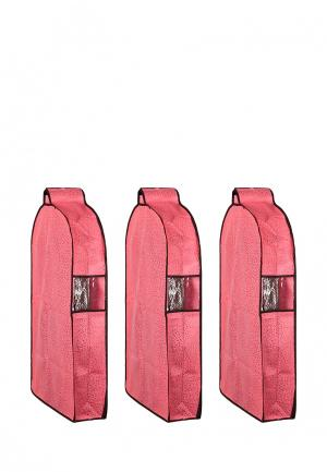 Комплект чехлов для верхней одежды 3 шт. El Casa. Цвет: розовый