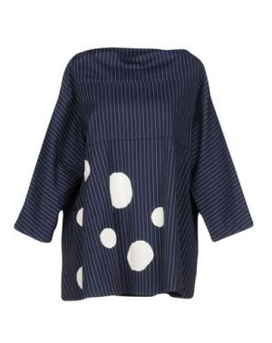 Блузка CORINNA CAON. Цвет: темно-синий