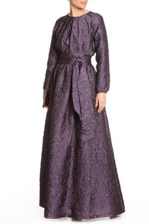 Платье макси NATALIA PICARIELLO. Цвет: фиолетовый