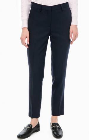 Шерстяные укороченные брюки Gant. Цвет: синий