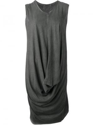 Драпированное платье Lost & Found Ria Dunn. Цвет: серый