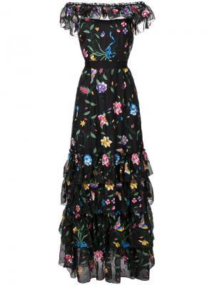 Платье с вышивкой Fairytale Goat. Цвет: чёрный