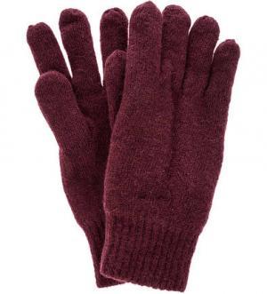 Утепленные вязаные перчатки Gant. Цвет: бордовый