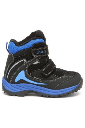 Ботинки школьные утепленные Vitacci. Цвет: черный
