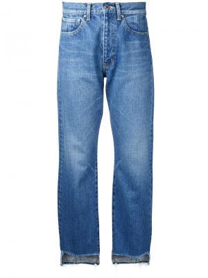 Асимметричные джинсы Astraet. Цвет: синий