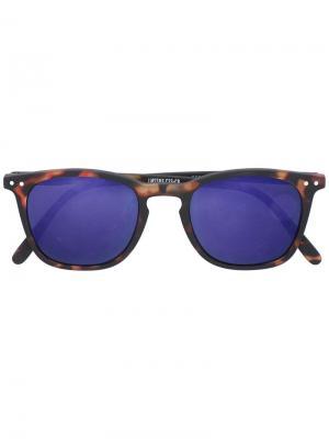 Солнцезащитные очки  с квадратной оправой See Concept. Цвет: коричневый