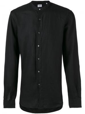 Рубашка с воротником-стойкой Aspesi. Цвет: чёрный