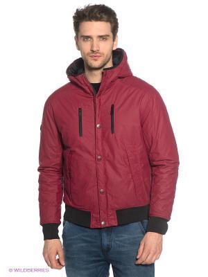 Куртка Marville. Цвет: бордовый