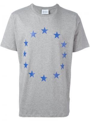 Футболка со звездами в круге Études. Цвет: серый