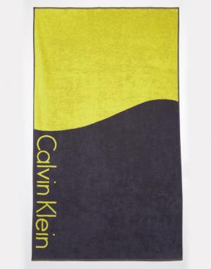 Calvin Klein Полотенце колор блок. Цвет: мульти