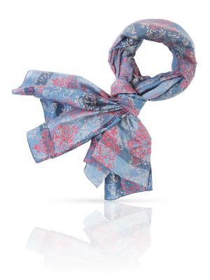 Палантин MICHEL KATANA`. Цвет: голубой, коралловый, лазурный