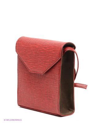 Сумка D'Angeny. Цвет: красный, черный, коричневый
