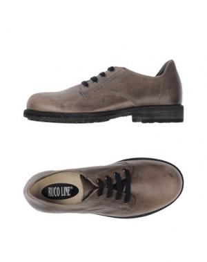 Обувь на шнурках RUCO LINE. Цвет: голубиный серый