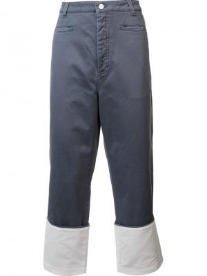 Широкие джинсы Loewe. Цвет: синий
