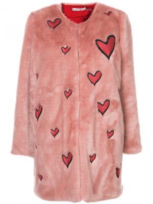 Quilted heart coat Alice+Olivia. Цвет: розовый и фиолетовый