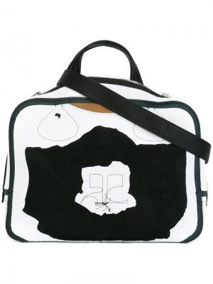 Двухцветная сумка-тоут Courrèges. Цвет: чёрный