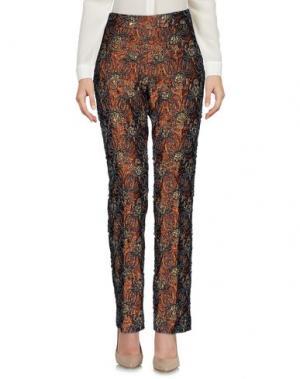 Повседневные брюки ROCHAS. Цвет: коричневый