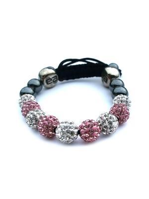 Браслет Womens Pink& Silver Shambala Style Bracelet Energyarmor. Цвет: серебристый, розовый