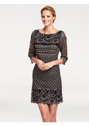 Платье ASHLEY BROOKE by Heine. Цвет: пудровый/шоколадно-коричневый