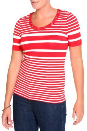 Блуза FIORA BLUE. Цвет: красный, белый