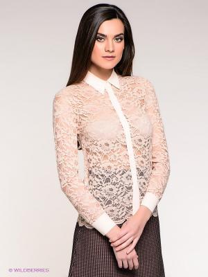Блузка Stefanel. Цвет: персиковый