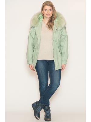 Куртка Modaleto. Цвет: светло-зеленый