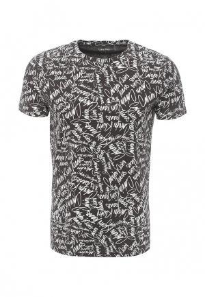 Футболка Calvin Klein Jeans. Цвет: черно-белый