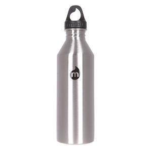 Бутылка для воды  M8 800ml Stainless W Black Print Loop Cap Mizu. Цвет: черный
