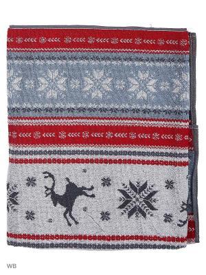 Полотенце махровое пестротканое жаккардовое Аляска Авангард. Цвет: серый, красный