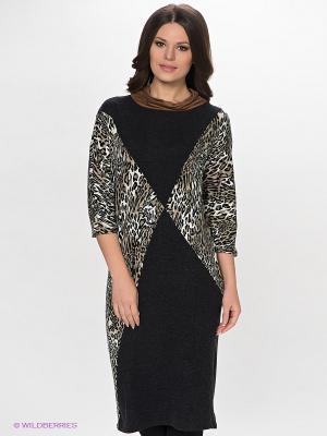 Платье МадаМ Т. Цвет: темно-серый, бежевый, белый, коричневый