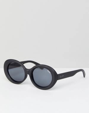Quay Australia Черные солнцезащитные очки кошачий глаз Mess Around. Цвет: черный