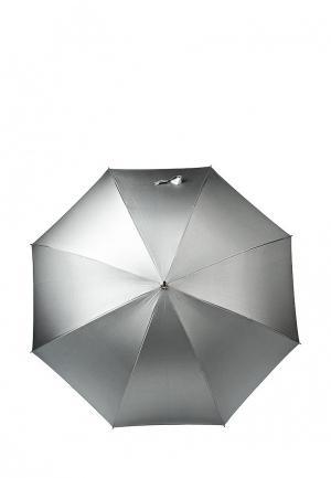Зонт-трость Kawaii Factory. Цвет: серебряный