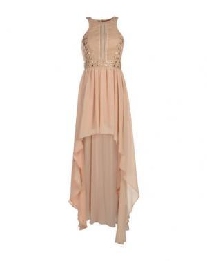 Длинное платье ELISABETTA FRANCHI. Цвет: телесный