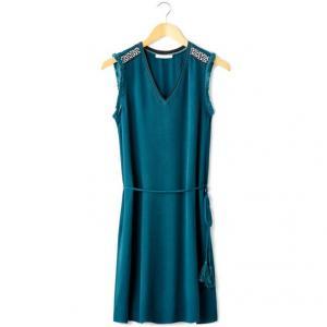 Платье без рукавов с вышивкой CLEMENTINE AN'GE. Цвет: черный