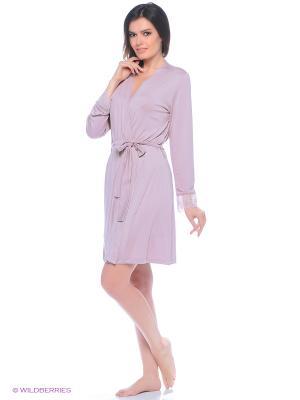 Комплект (халат, сорочка ночная) ASOLINDA. Цвет: лиловый