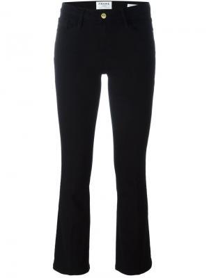 Укороченные брюки Frame Denim. Цвет: чёрный
