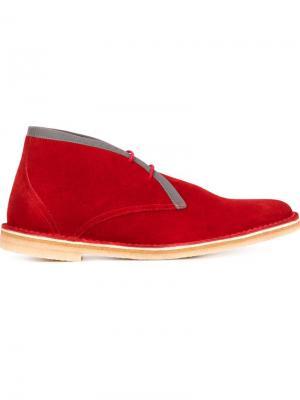 Ботинки-дезерты с контрастной отделкой Pierre Hardy. Цвет: красный