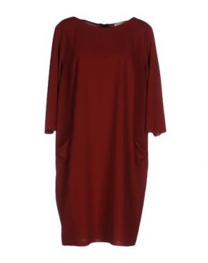 Короткое платье CALALUNA. Цвет: кирпично-красный