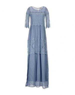 Длинное платье PINK MEMORIES. Цвет: лазурный