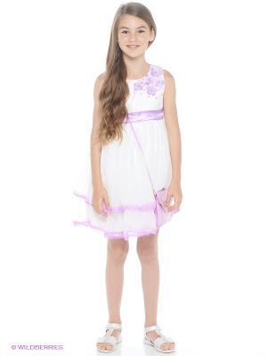 Платье Wonderland. Цвет: белый, сиреневый