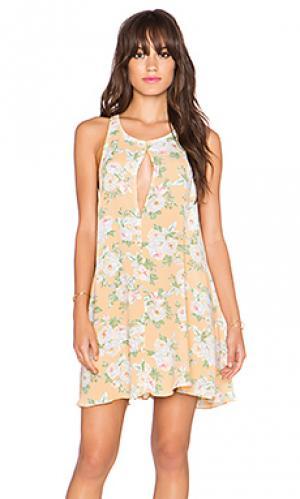 Платье с юбкой-солнце lexington Privacy Please. Цвет: желтый