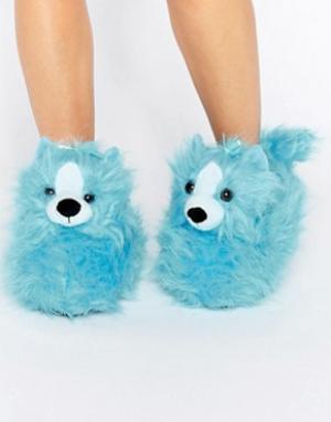 Loungeable Слиперы-собачки Peppy. Цвет: синий