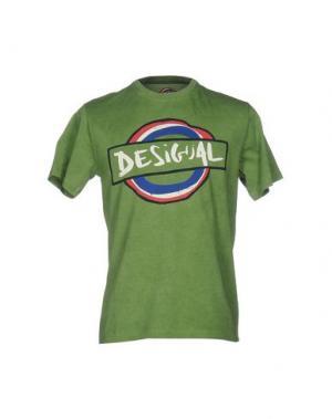 Футболка DESIGUAL. Цвет: светло-зеленый