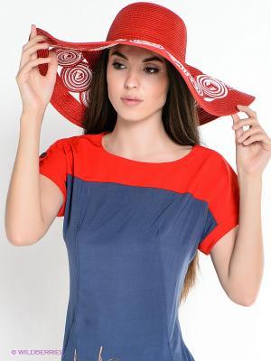 Шляпа ESMEE. Цвет: красный, белый