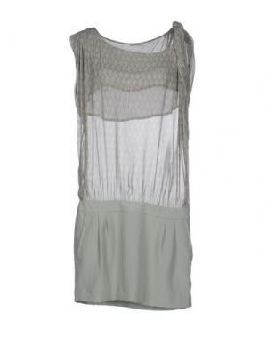 Короткое платье GOLD CASE SOGNO. Цвет: светло-зеленый