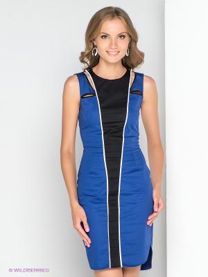 Платье BOVONA. Цвет: синий, белый, черный