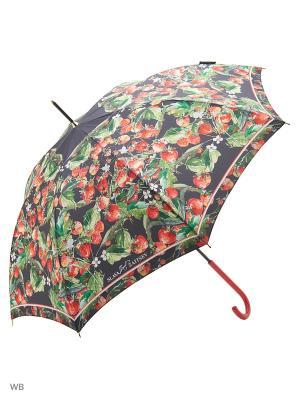 Зонт трость Slava Zaitsev. Цвет: темно-серый, зеленый, красный