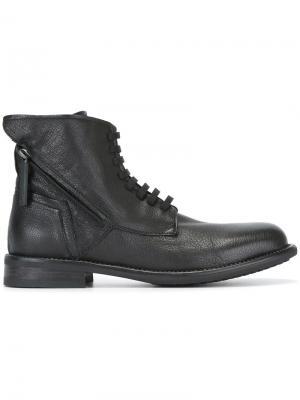 Ботинки на шнуровке с молнией Bruno Bordese. Цвет: чёрный