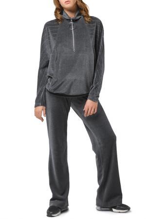 Расклешенные брюки Helmidge. Цвет: серый